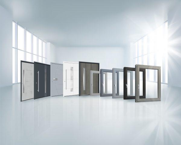 Fenster und Türen in einer Collage
